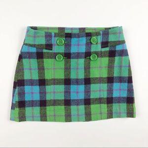 Gap Plaid Wool Blend Mini Skirt